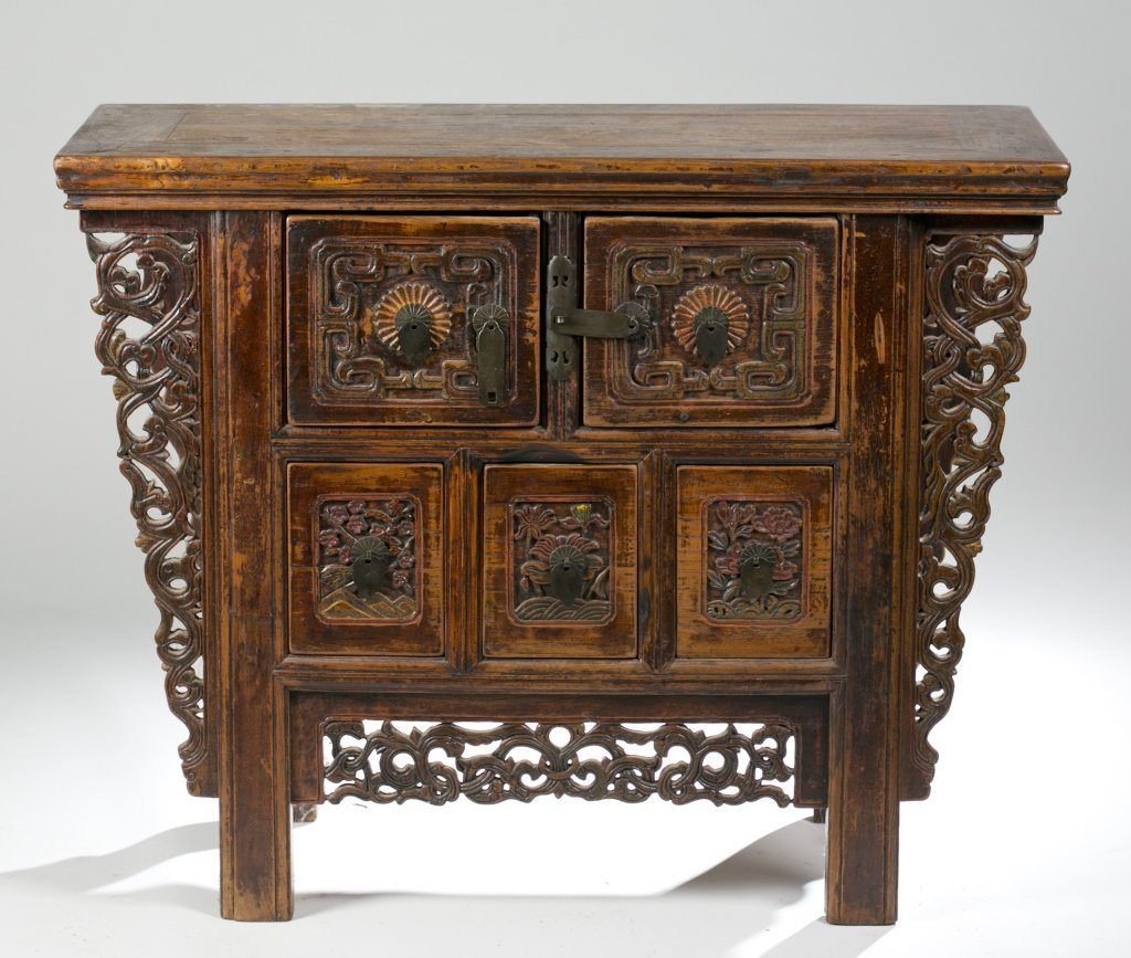 19th/20th c. Japanese Carved Console Table.