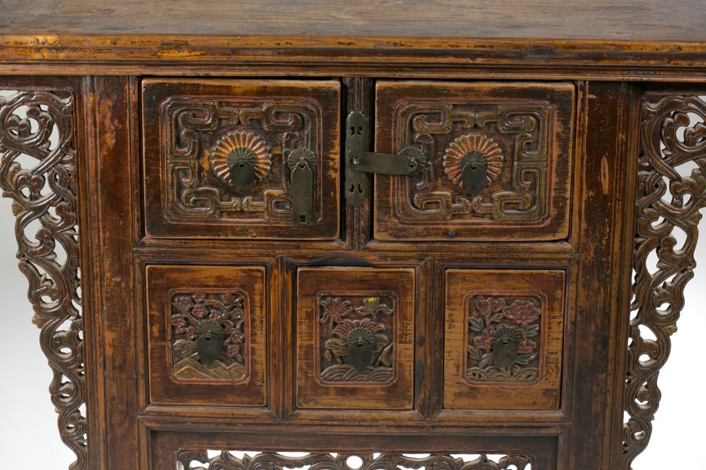 19th/20th c. Japanese Carved Console Table. - 3