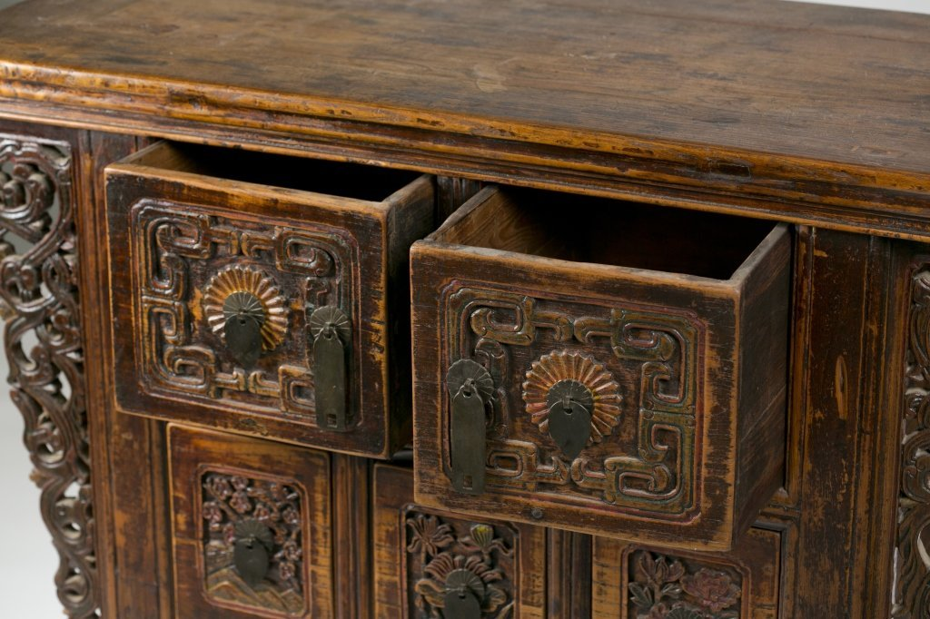 19th/20th c. Japanese Carved Console Table. - 5