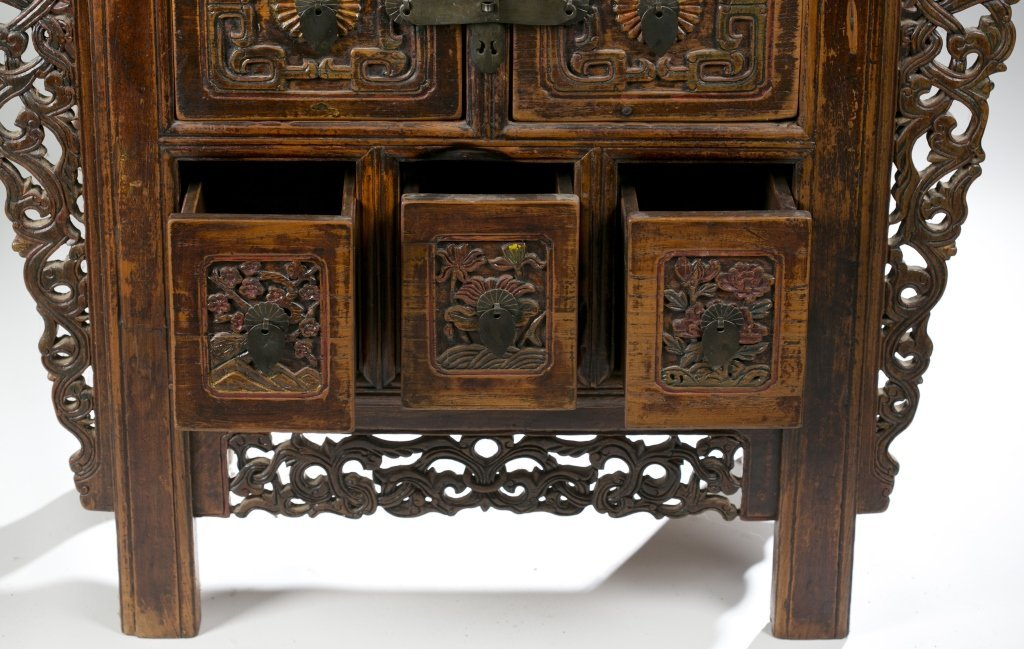 19th/20th c. Japanese Carved Console Table. - 6