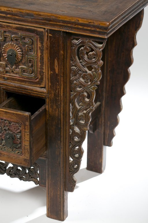19th/20th c. Japanese Carved Console Table. - 7
