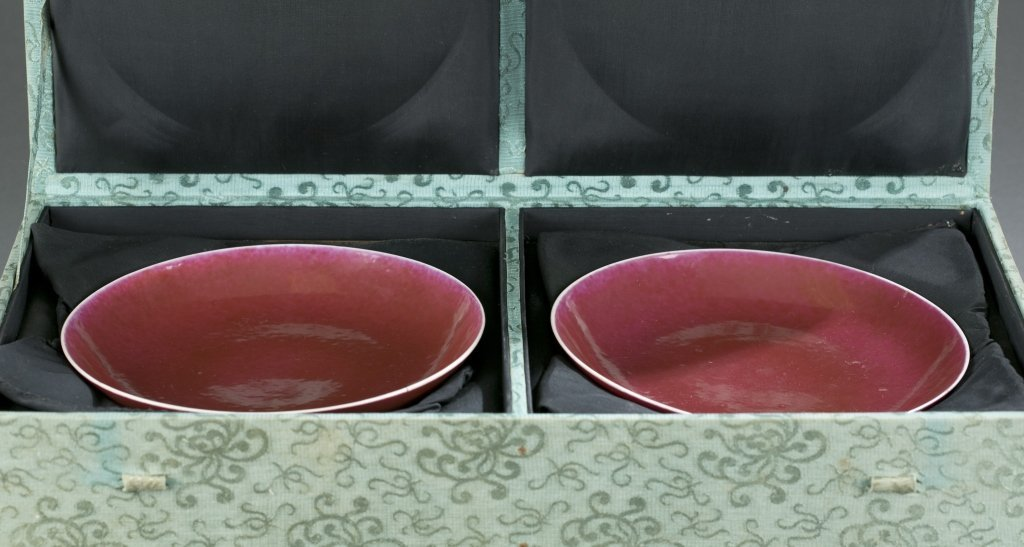 Pair of Qing Oxblood Bowls. - 2
