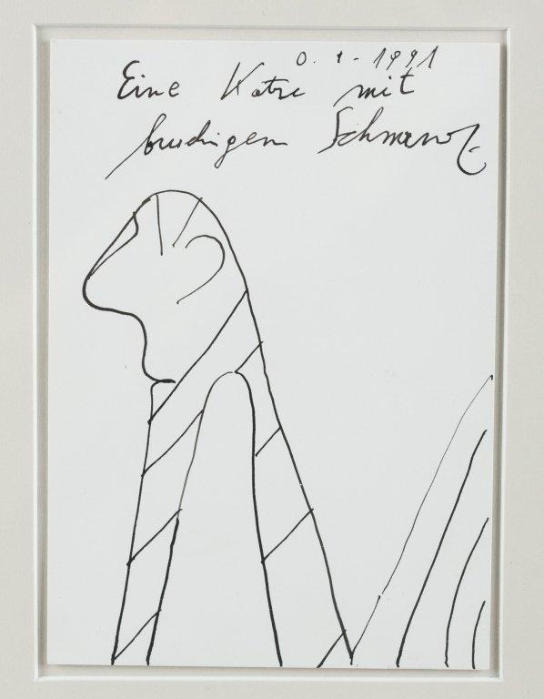"""""""Eine Katre mit brudigen schmanz,"""" 1991."""