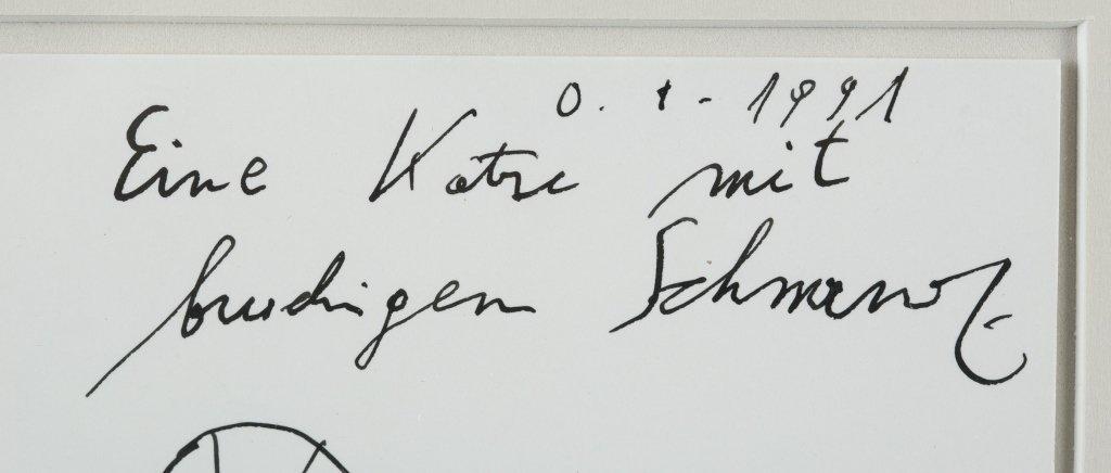 """""""Eine Katre mit brudigen schmanz,"""" 1991. - 3"""