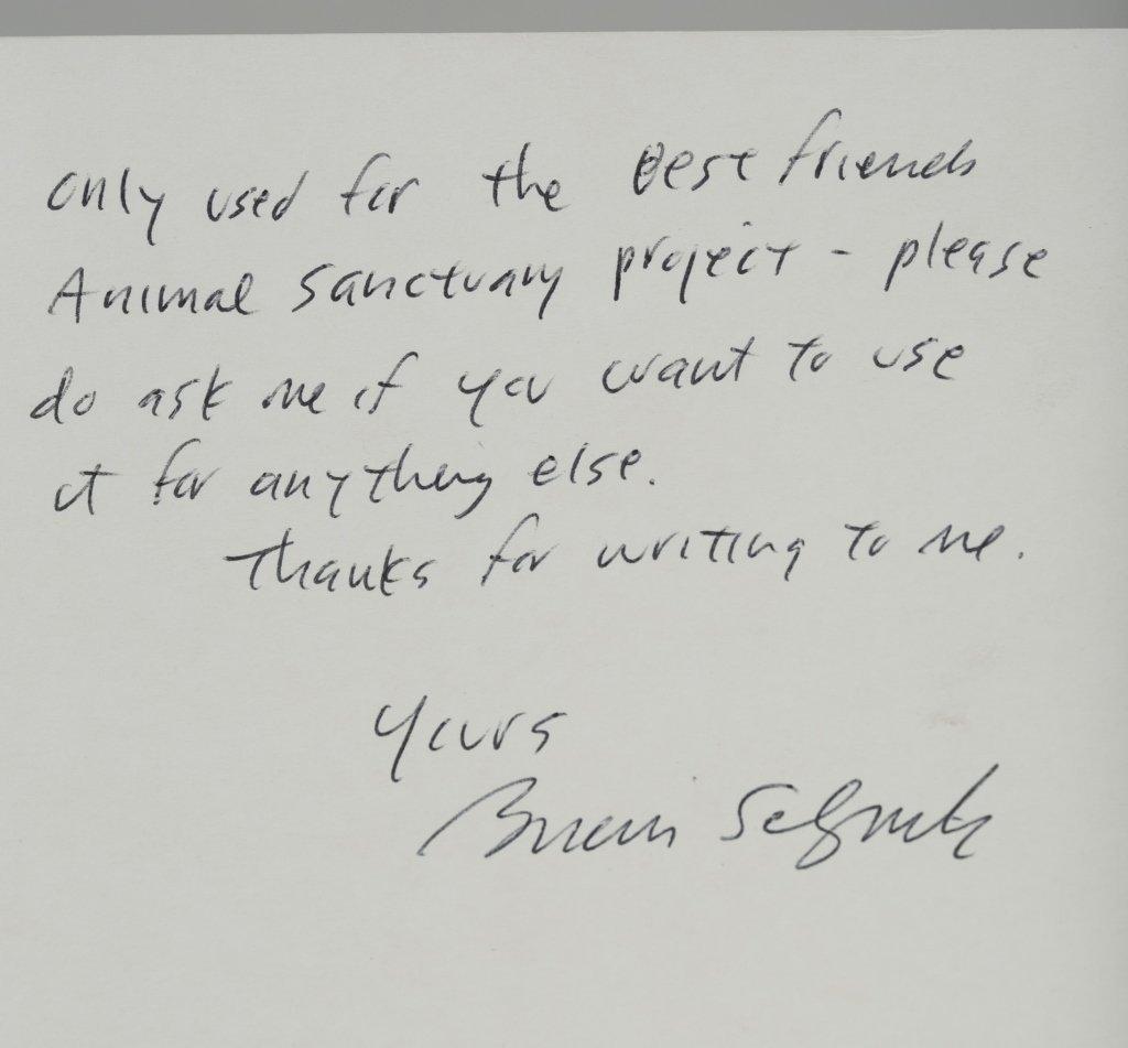 Brian Selznick Letter & Cat Sketch. - 4