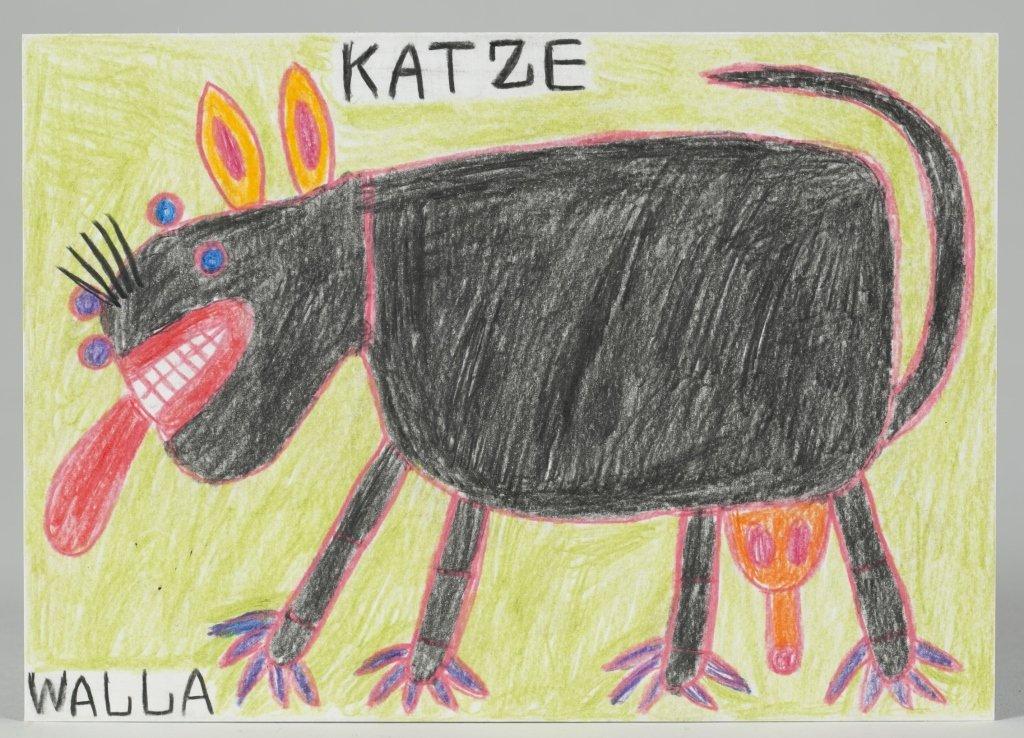 "August Walla (Germany, 1936-2001) ""Katze""."