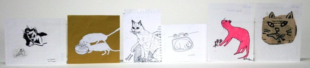 Cat Sketches from Members of The Royal Art Lodge.