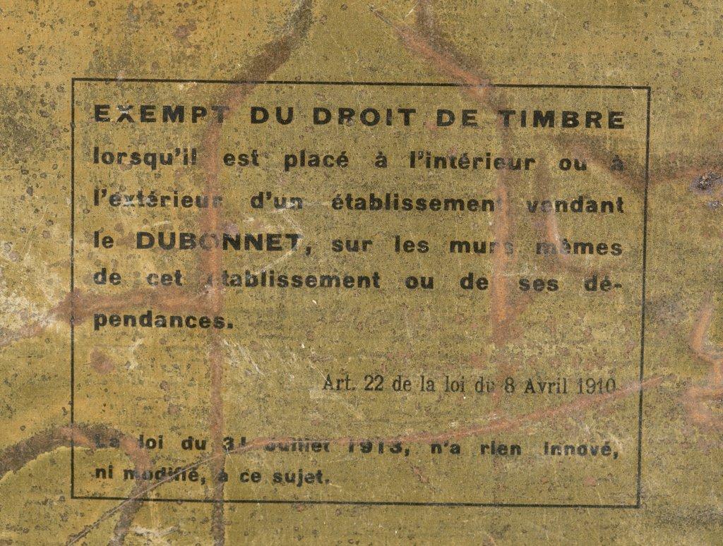 Dubonnet Vin Tonique au Quinquina Tin Plate. - 3