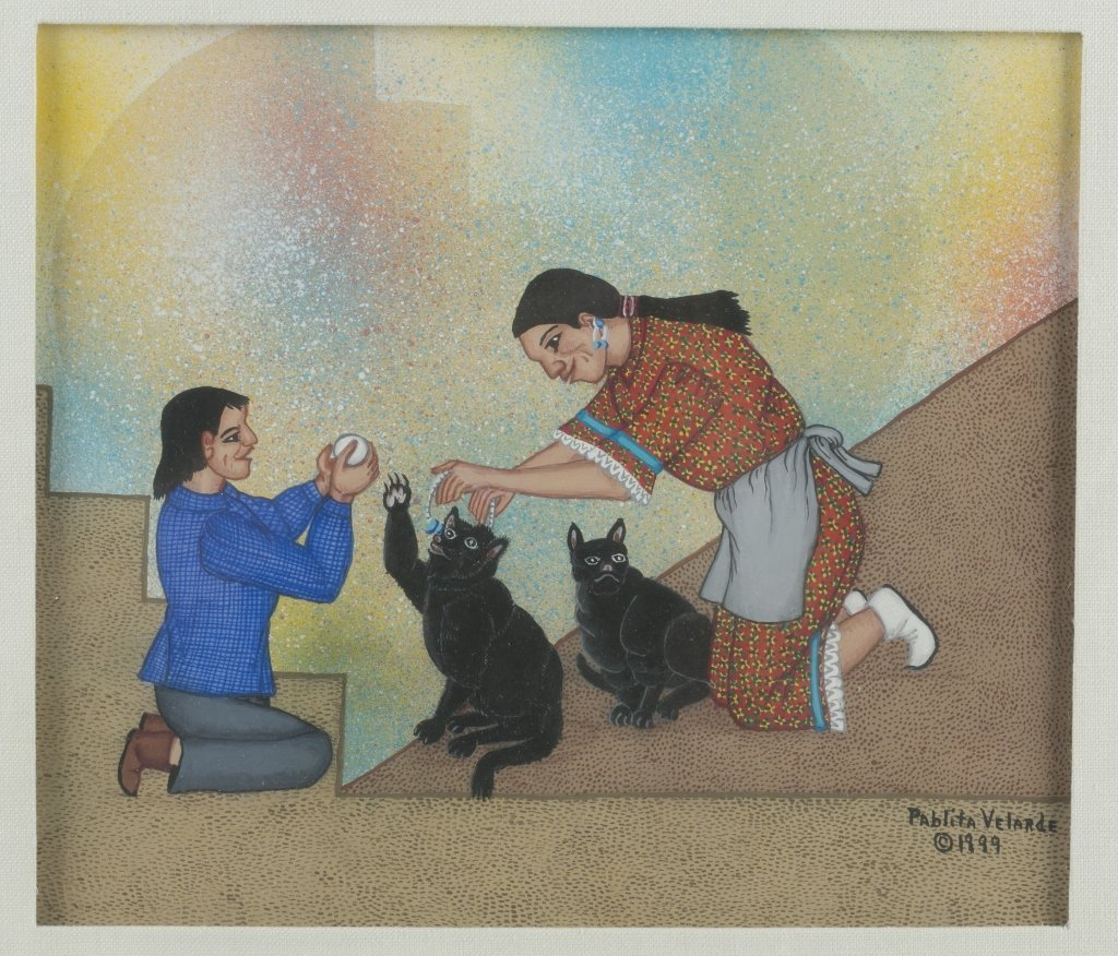 Pablita Velarde (US/New Mexico, 1918-2006). - 2