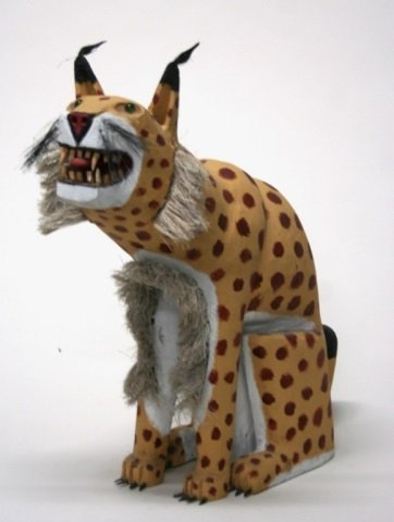 Leroy Archuleta Carved Wooden Leopard Sculpture. - 2
