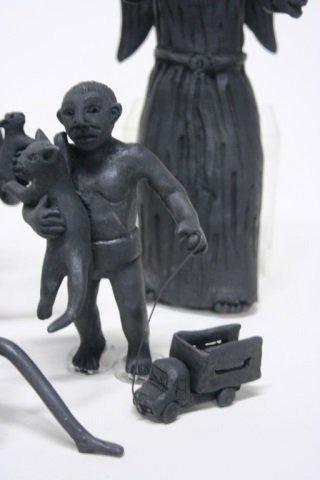 Carlo Mazno Mexican Black Glazed Pottery Figurines - 2