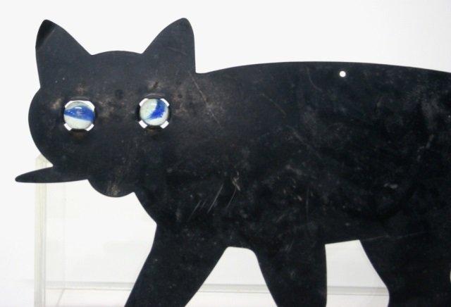 Black Metal Cat Decorative Wall Plaque. - 2