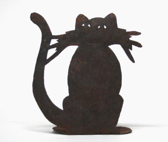 Patrick-B Metal Cat Sculpture.