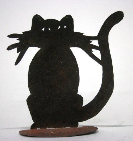Patrick-B Metal Cat Sculpture. - 3