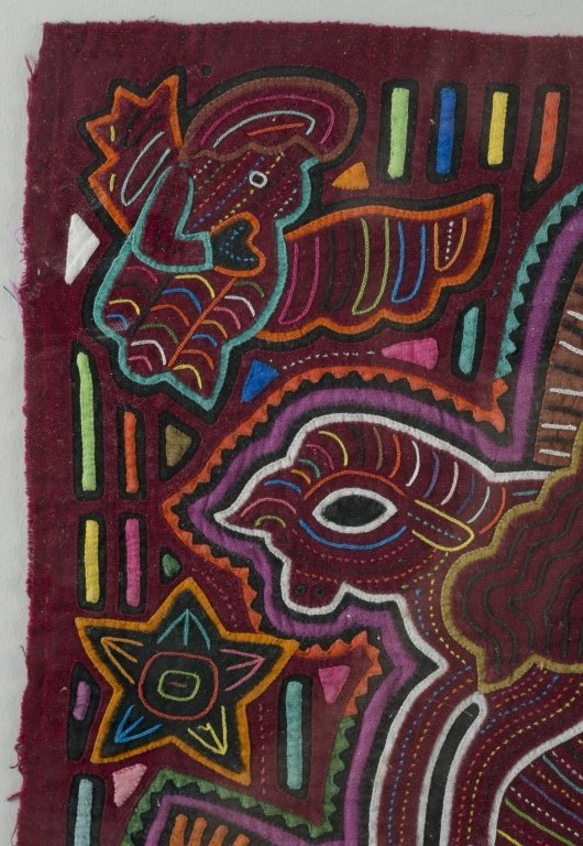 Two Colorful Folk Art Cat Tapestries. - 3