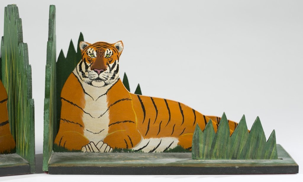 John Butler Tiger Book Ends. - 2