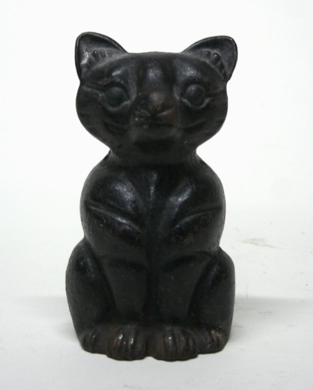 Cast Iron Cat Sculpture.