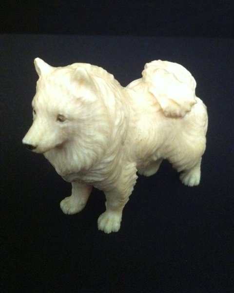 400: Chinese Ivory Figure of a Dog ,