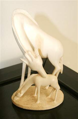 African Ivory Figure Group, ,