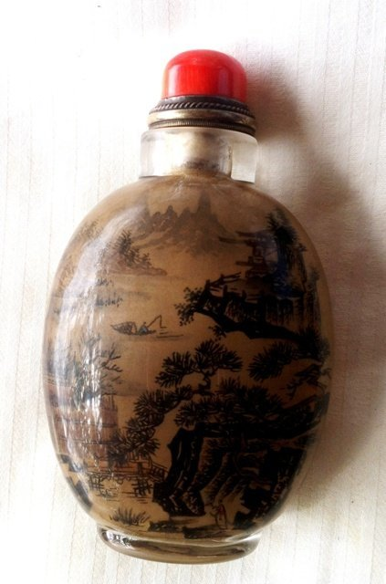417: Chinese Inside Painted Glass Snuff Bottle,
