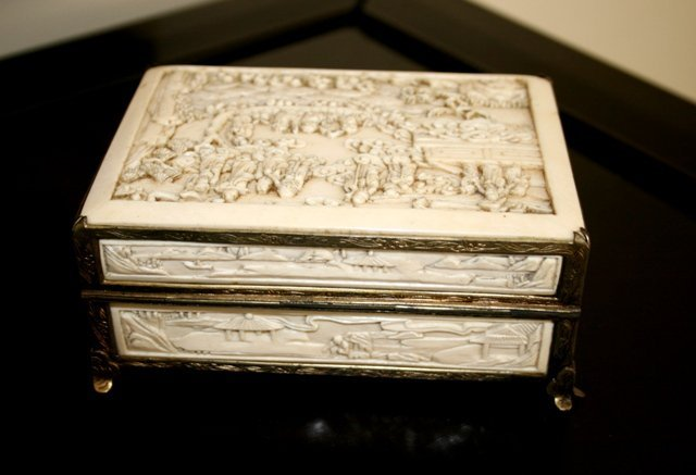 422: Chinese Ivory Casket, ,