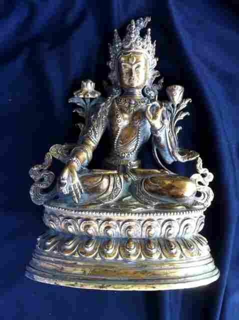 Chinese Gilt Bronze Buddha,