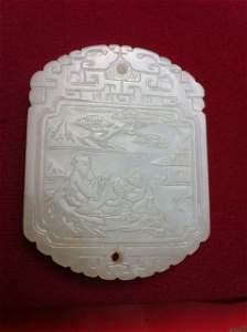 576: Chinese White Jade Plaque ,