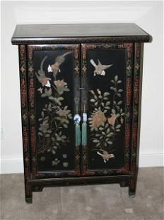 Chinese Hardstone Mounted Side Cabinet ,