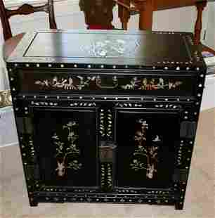 Chinese Inlaid Side Cabinet ,