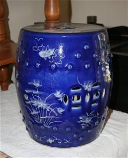 Chinese Blue and White Tambourette,