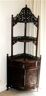 Chinese Rosewood Corner Cabinet,