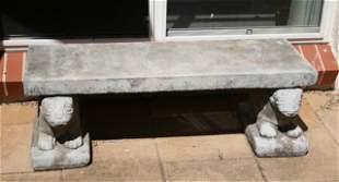 Stoneware Garden Bench,
