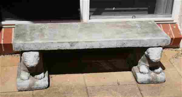 728: Stoneware Garden Bench,