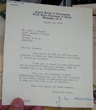 J Edgar Hoover Letter,