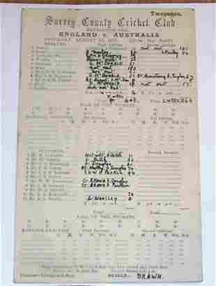 Original 1921 Scorecard