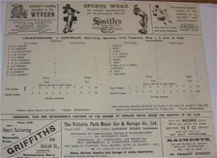 1926 Scorecard