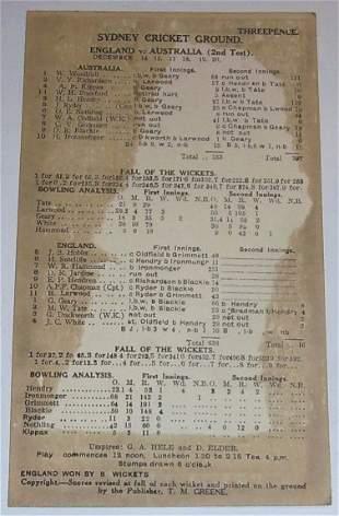 SCG Scorecard 1928