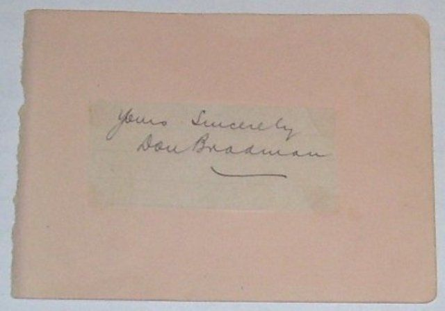 Early Bradman autograph