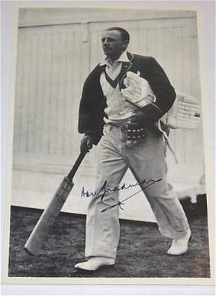 Bradman signed Photo