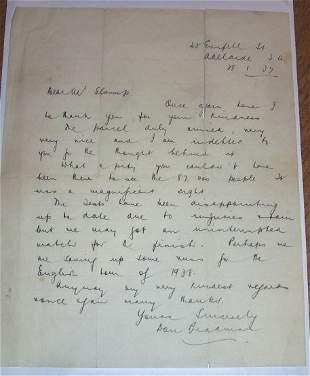 Bradman letter 1937