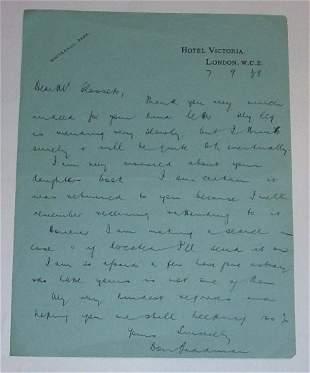 Bradman letter