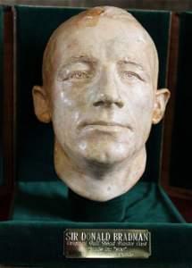 96: Don Bradman Lifemask by Thelma Dahle