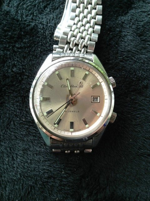 A Stainless Steel  Citizen Alarm Watch c 1970,