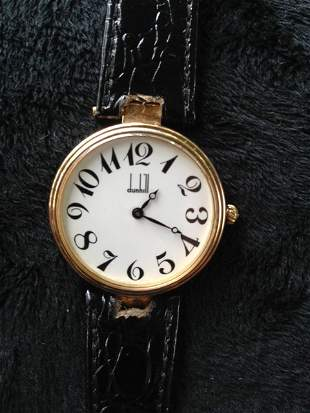 A Dunhill Silver Gilt Automatic Gents Watch ,