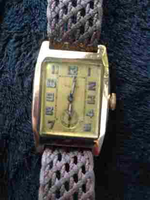 A Rolex 9 Carat Boys Watch c 1935,