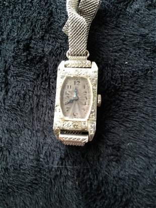 A Rolex 18 Carat White Gold Watch c 1920,