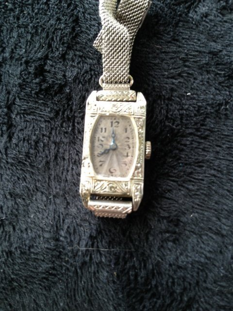 A Rolex 18 Carat White Gold Watch c 1920,