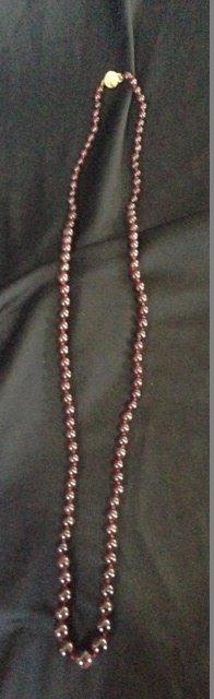 A Strand of Garnet Beads