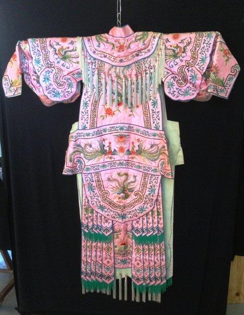 A Peking Opera Salmon Pink Silk Costume ,