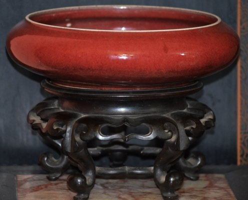 A Chinese Sang de Beouf Bowl, Probably Qing ,
